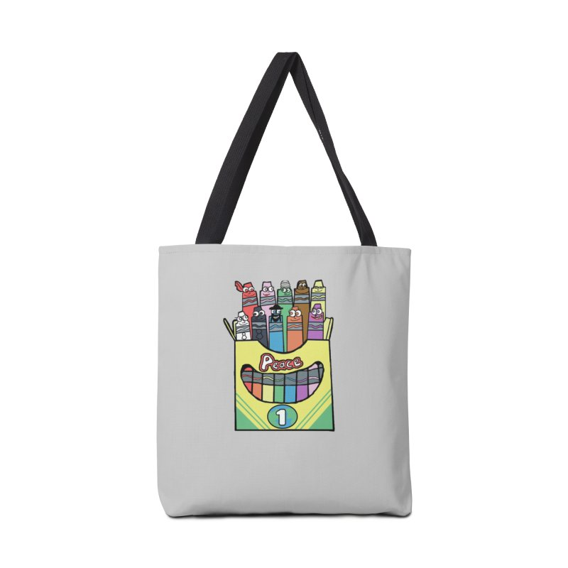 Colors of Peace Accessories Tote Bag Bag by Sam Shain's Artist Shop