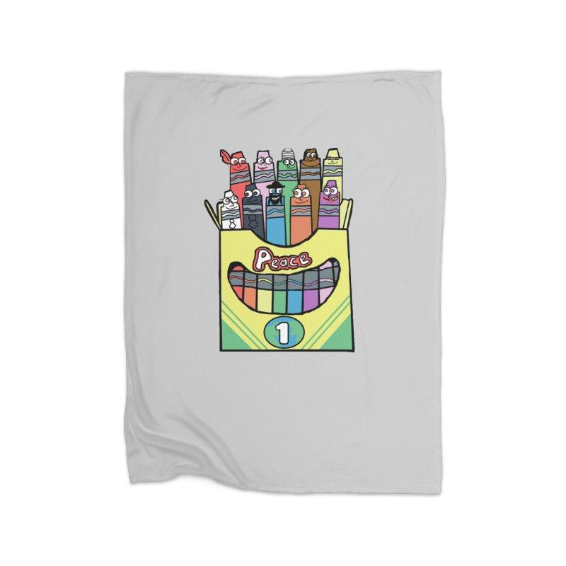 Colors of Peace Home Fleece Blanket Blanket by Sam Shain's Artist Shop