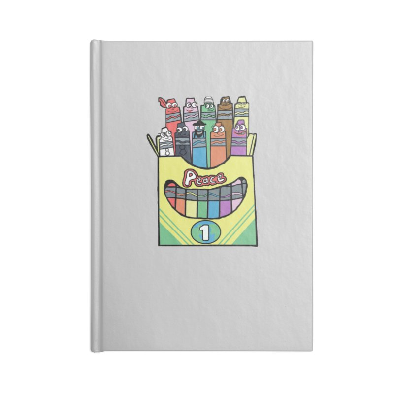Colors of Peace Accessories Blank Journal Notebook by Sam Shain's Artist Shop