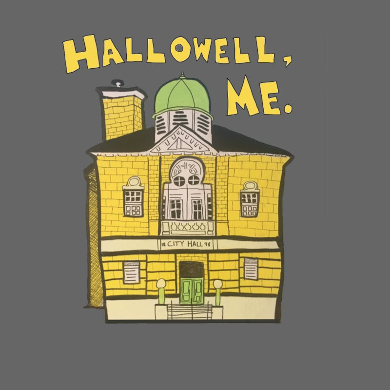 Hallowell, ME Men's T-Shirt by Sam Shain's Artist Shop