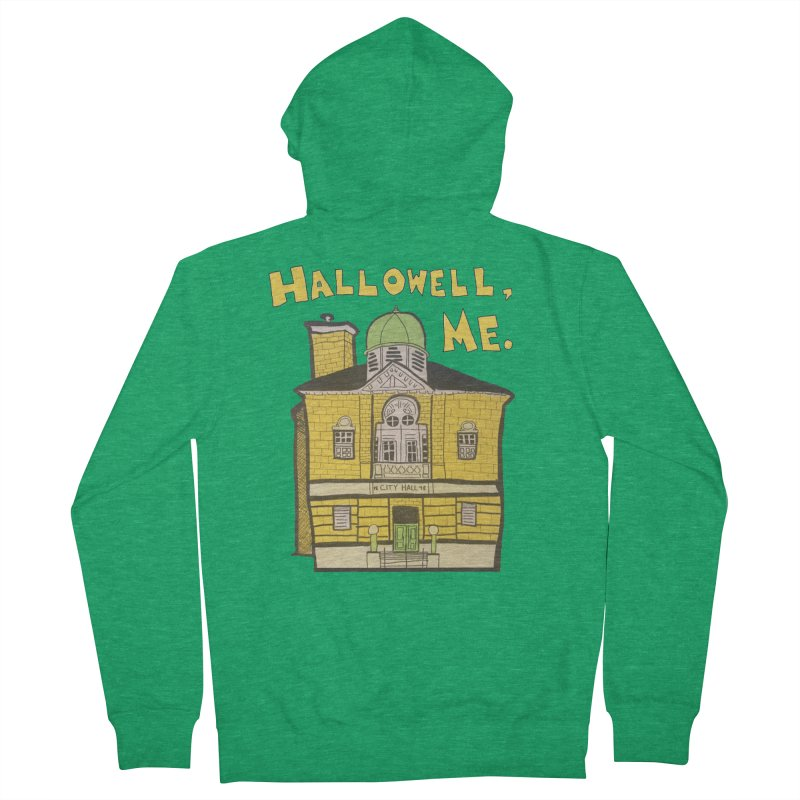 Hallowell, ME Women's French Terry Zip-Up Hoody by Sam Shain's Artist Shop
