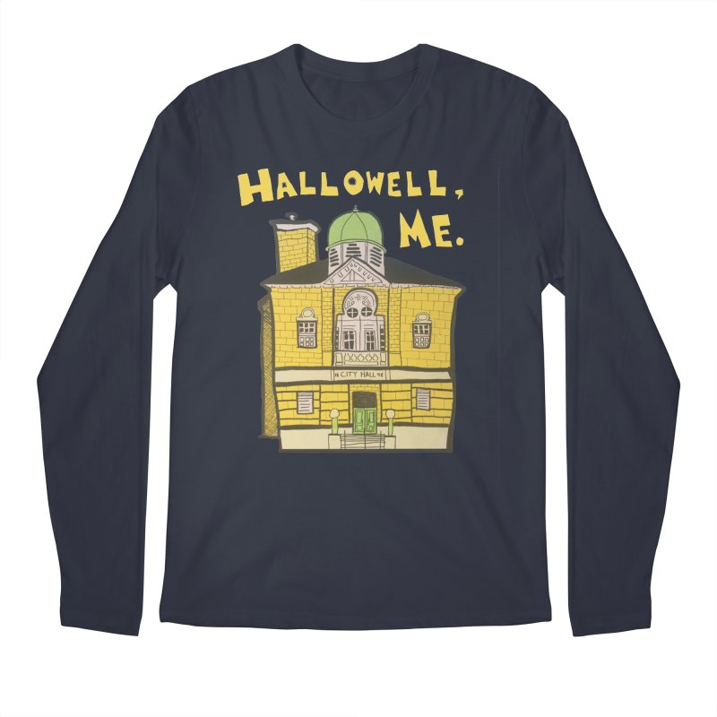 Hallowell, ME Men's Regular Longsleeve T-Shirt by Sam Shain's Artist Shop