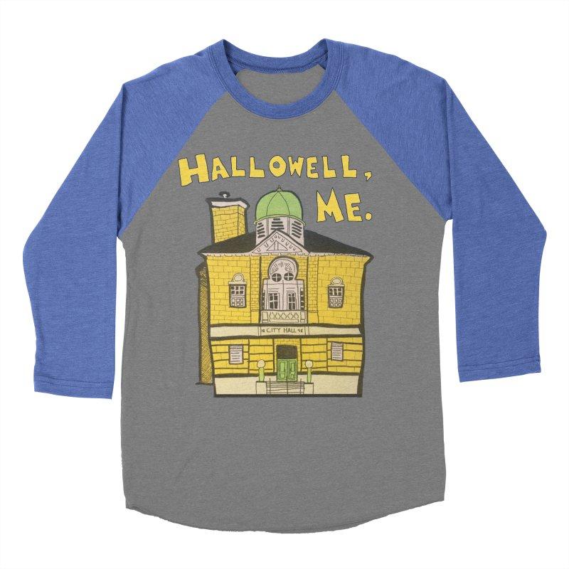 Hallowell, ME Men's Baseball Triblend Longsleeve T-Shirt by Sam Shain's Artist Shop