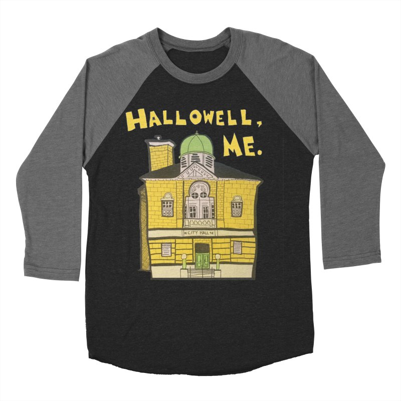 Hallowell, ME Men's Baseball Triblend Longsleeve T-Shirt by Sam Shain's Artist Shop