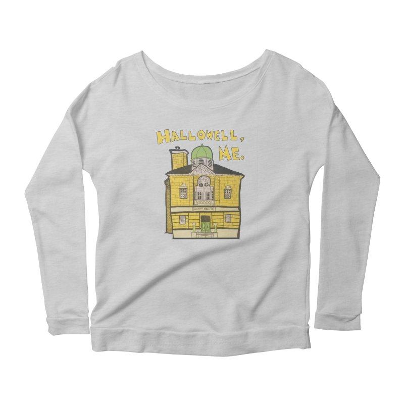 Hallowell, ME Women's Scoop Neck Longsleeve T-Shirt by Sam Shain's Artist Shop