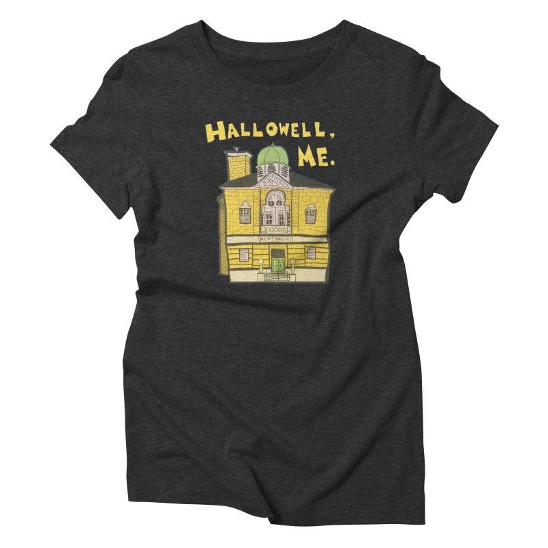 Hallowell, ME Women's Triblend T-Shirt by Sam Shain's Artist Shop