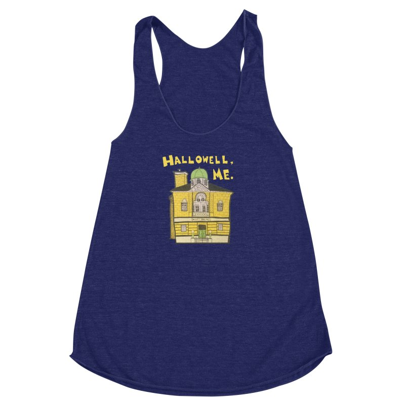 Hallowell, ME Women's Racerback Triblend Tank by Sam Shain's Artist Shop