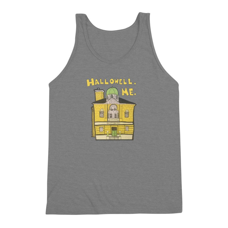 Hallowell, ME Men's Triblend Tank by Sam Shain's Artist Shop