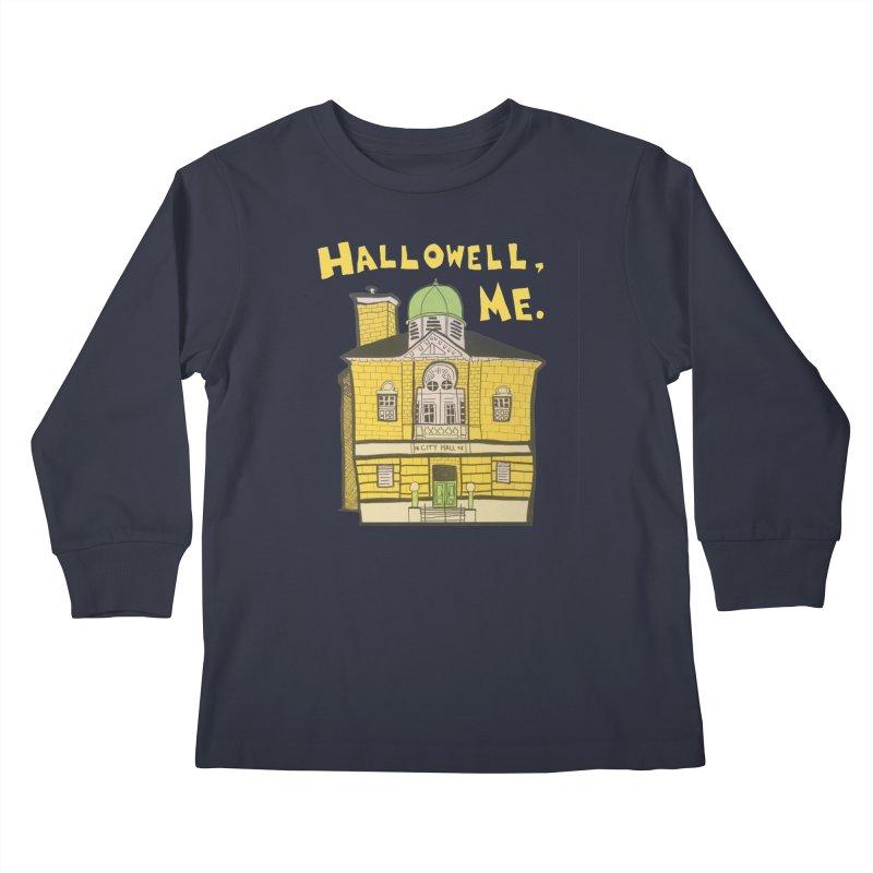 Hallowell, ME Kids Longsleeve T-Shirt by Sam Shain's Artist Shop