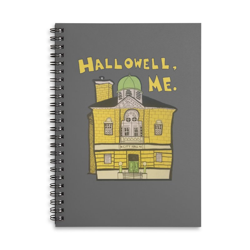 Hallowell, ME Accessories Lined Spiral Notebook by Sam Shain's Artist Shop