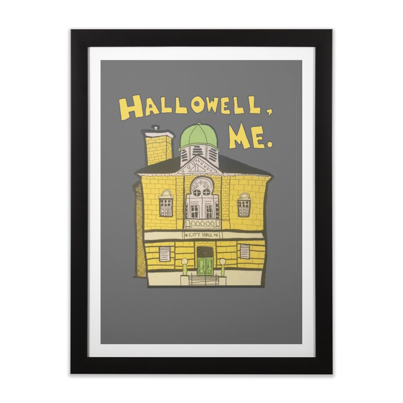Hallowell, ME Home Framed Fine Art Print by Sam Shain's Artist Shop