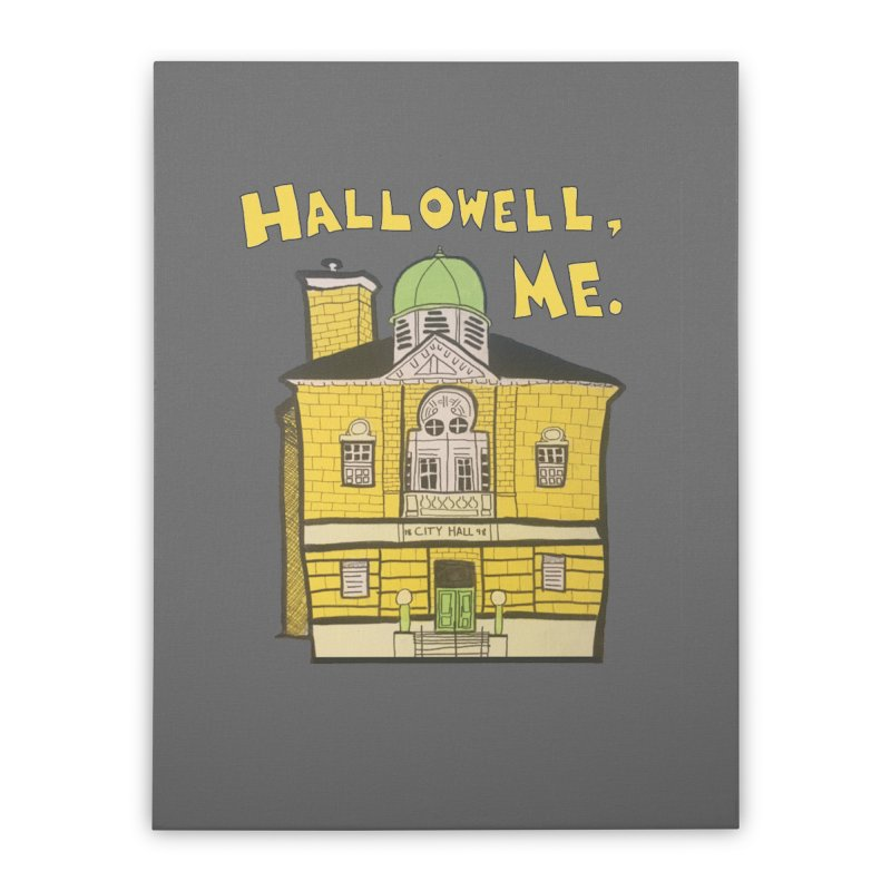 Hallowell, ME Home Stretched Canvas by Sam Shain's Artist Shop
