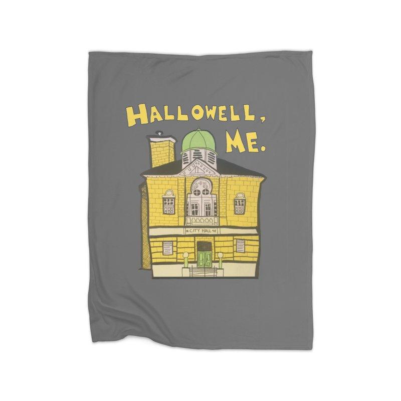 Hallowell, ME Home Fleece Blanket Blanket by Sam Shain's Artist Shop
