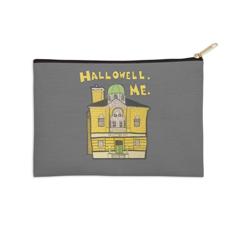 Hallowell, ME Accessories Zip Pouch by Sam Shain's Artist Shop