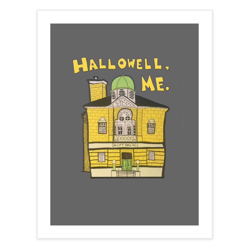 Hallowell, ME Home Fine Art Print by Sam Shain's Artist Shop