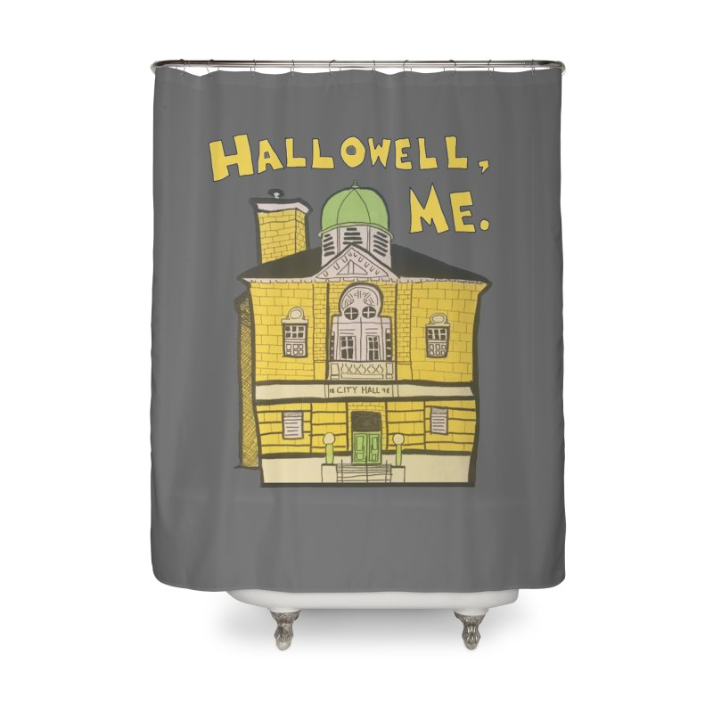 Hallowell, ME Home Shower Curtain by Sam Shain's Artist Shop