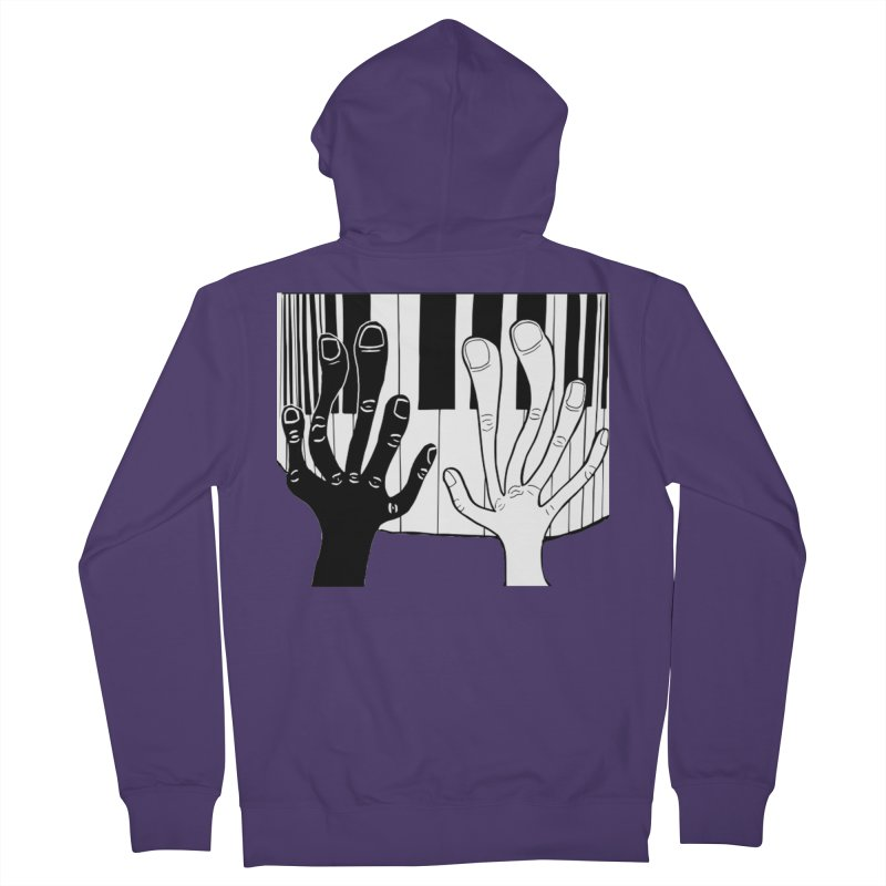 Racial Harmony  Women's French Terry Zip-Up Hoody by Sam Shain's Artist Shop
