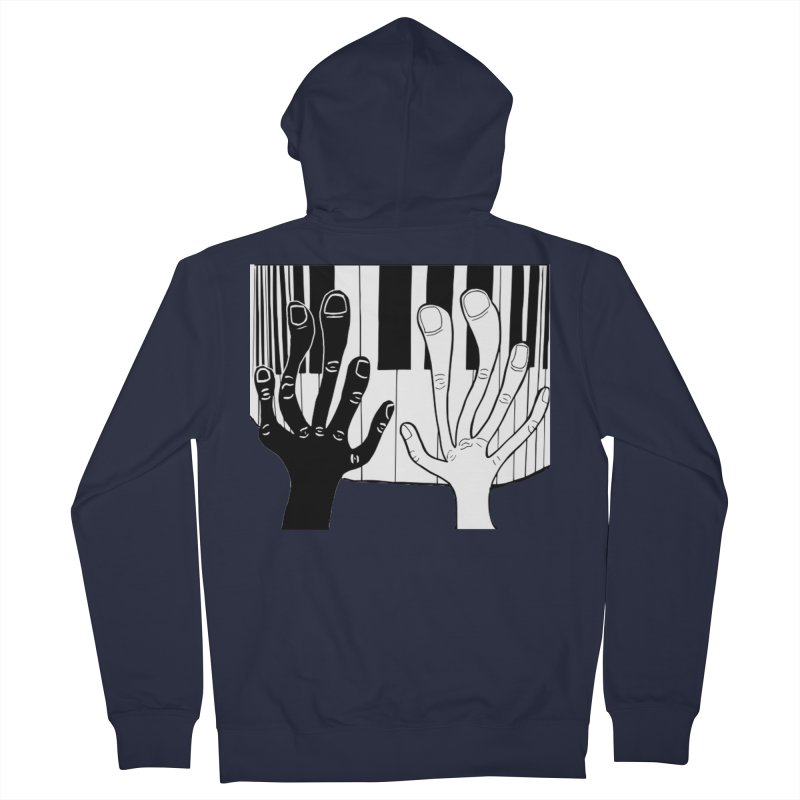 Racial Harmony  Men's French Terry Zip-Up Hoody by Sam Shain's Artist Shop