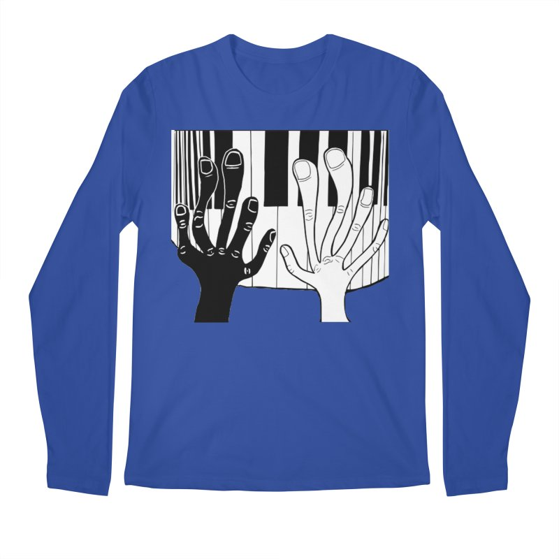 Racial Harmony  Men's Regular Longsleeve T-Shirt by Sam Shain's Artist Shop