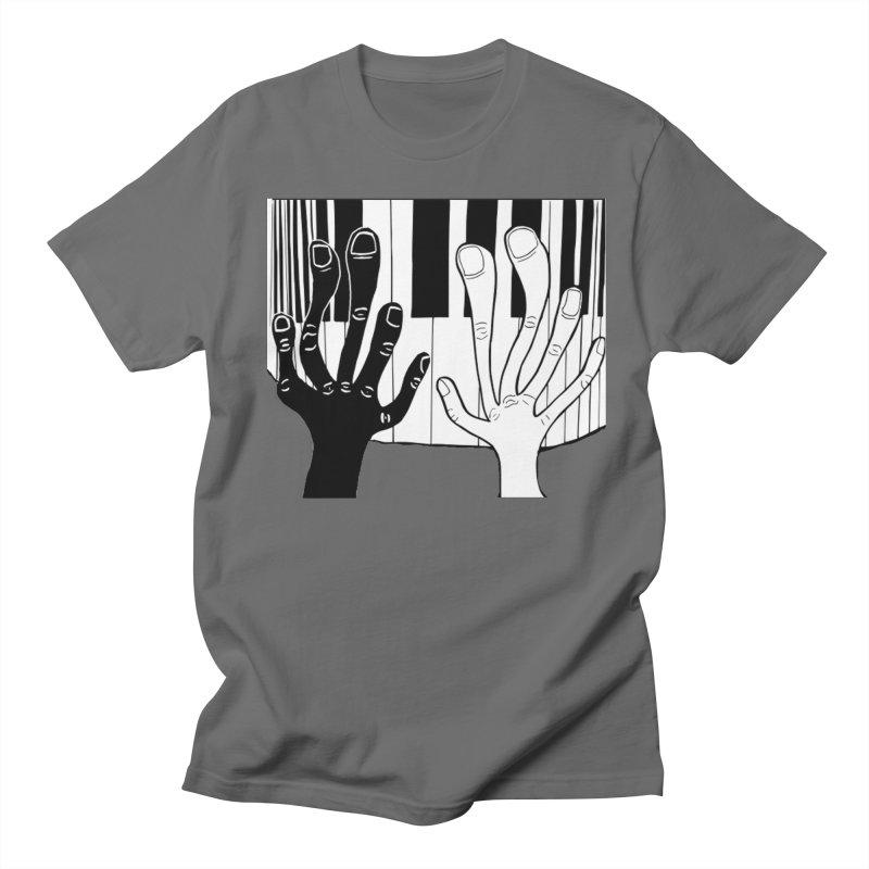 Racial Harmony  in Men's Regular T-Shirt Asphalt by Sam Shain's Artist Shop