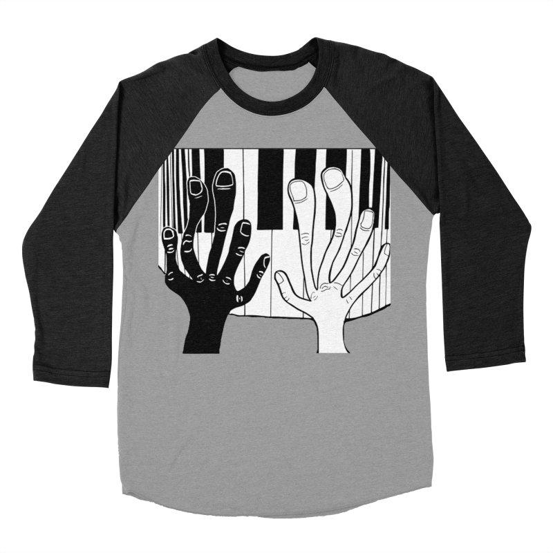 Racial Harmony  Women's Baseball Triblend Longsleeve T-Shirt by Sam Shain's Artist Shop