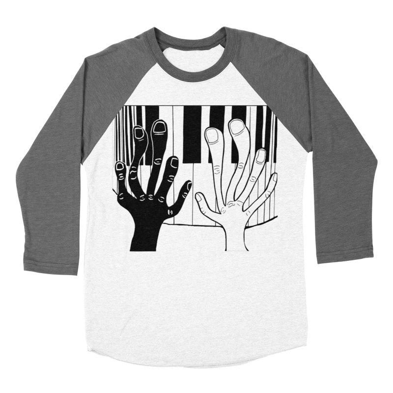 Racial Harmony  Men's Baseball Triblend Longsleeve T-Shirt by Sam Shain's Artist Shop