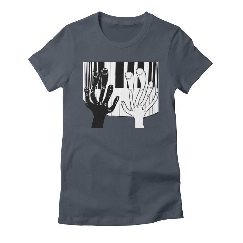 Racial Harmony  Women's T-Shirt by Sam Shain's Artist Shop