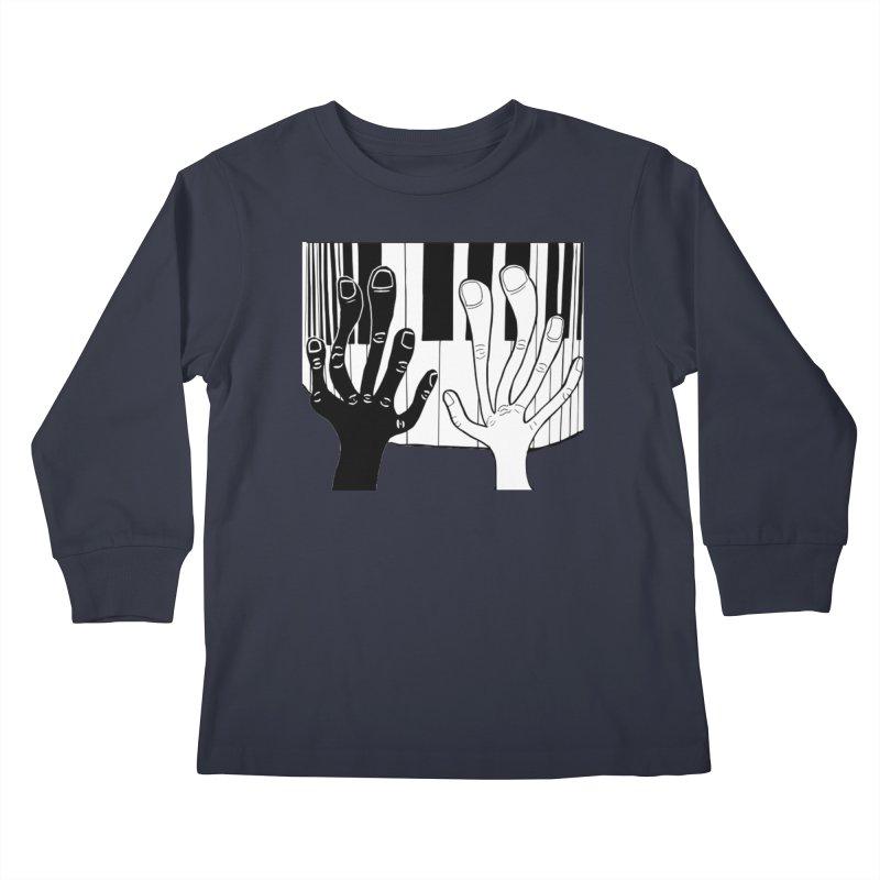 Racial Harmony  Kids Longsleeve T-Shirt by Sam Shain's Artist Shop