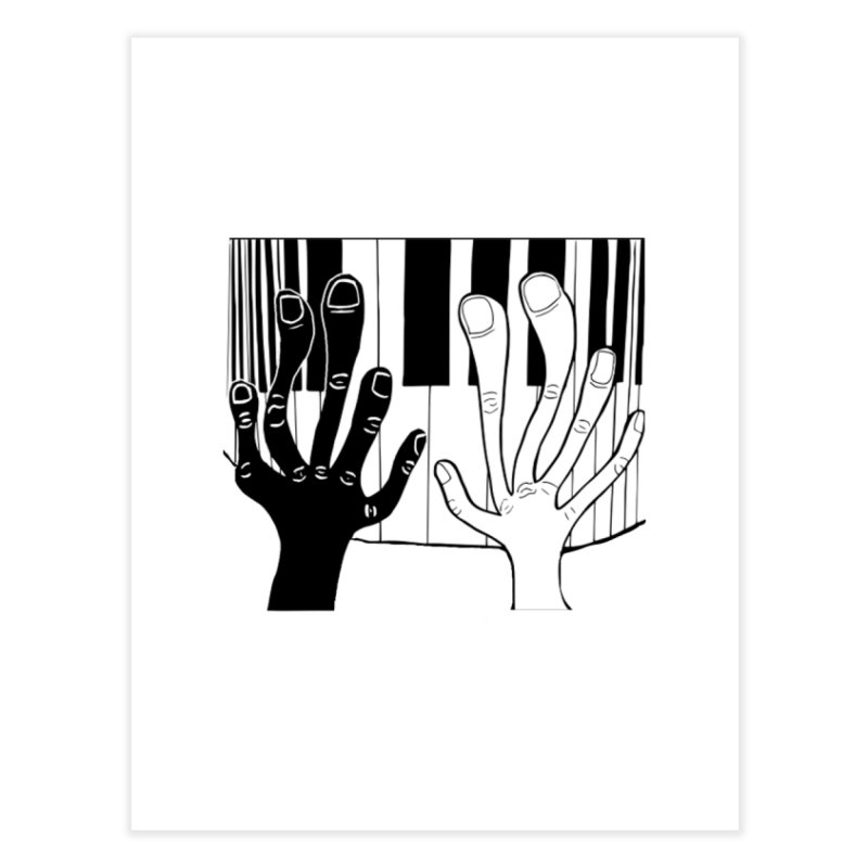 Racial Harmony  Home Fine Art Print by Sam Shain's Artist Shop