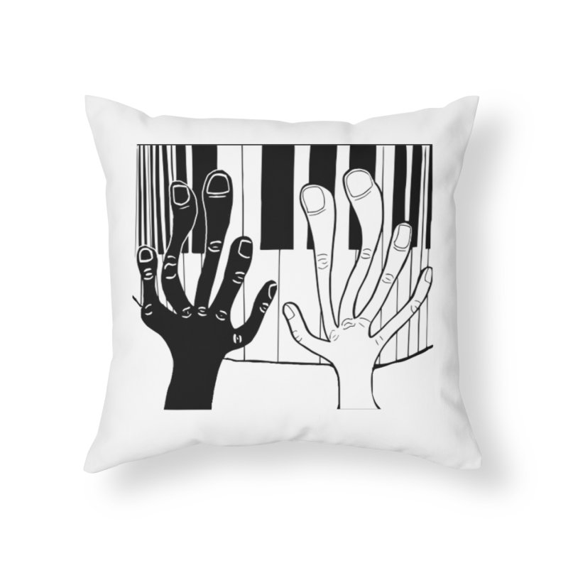 Racial Harmony  Home Throw Pillow by Sam Shain's Artist Shop