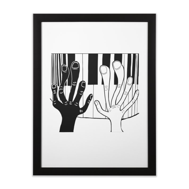 Racial Harmony  Home Framed Fine Art Print by Sam Shain's Artist Shop