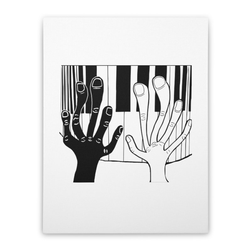 Racial Harmony  Home Stretched Canvas by Sam Shain's Artist Shop