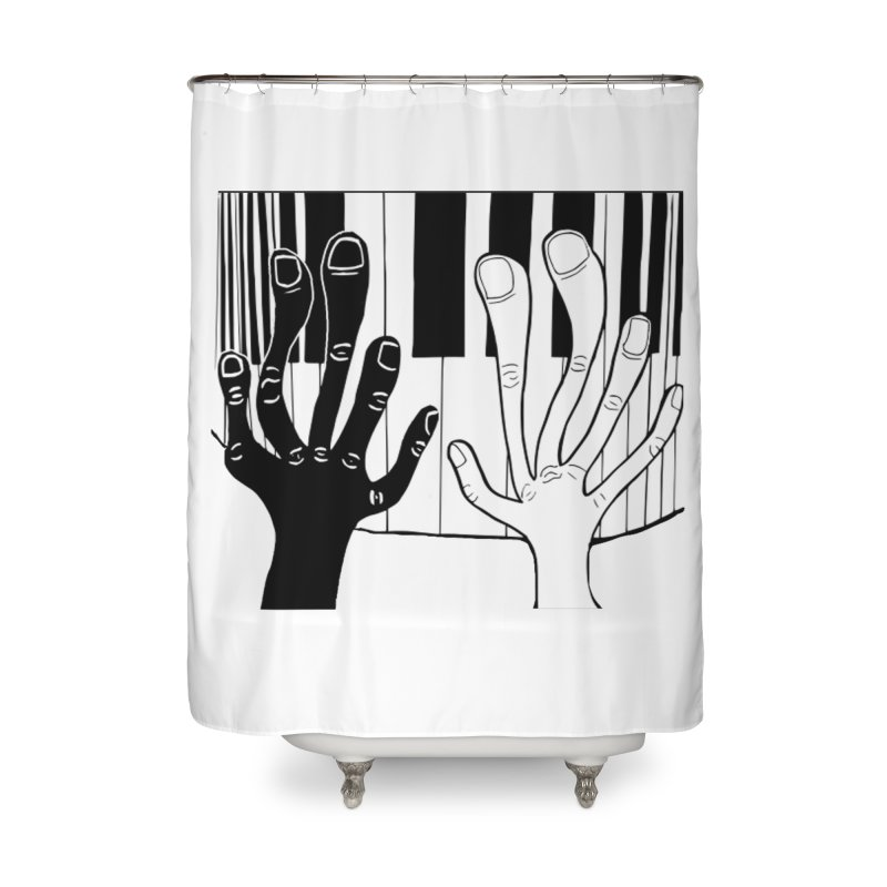 Racial Harmony  Home Shower Curtain by Sam Shain's Artist Shop