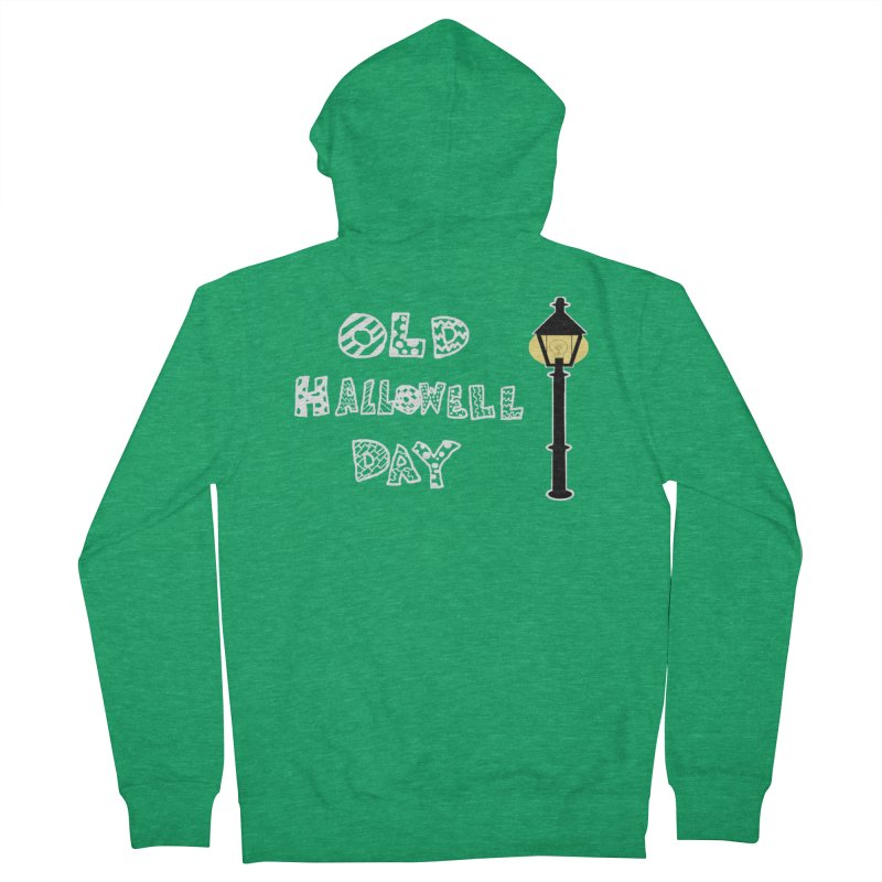 Old Hallowell Day Women's French Terry Zip-Up Hoody by Sam Shain's Artist Shop