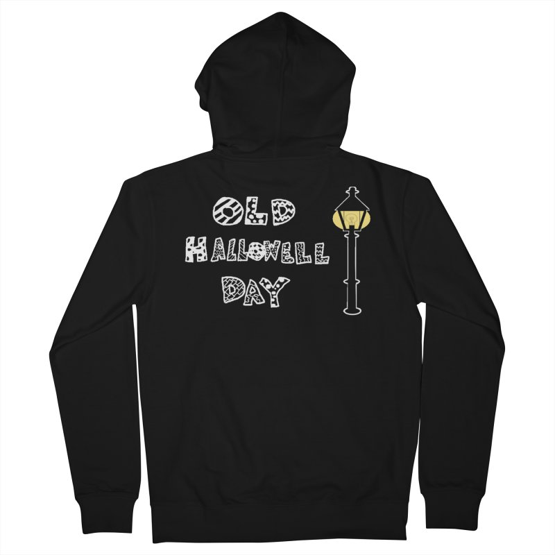 Old Hallowell Day Men's French Terry Zip-Up Hoody by Sam Shain's Artist Shop