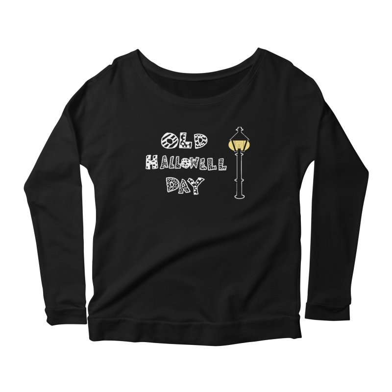 Old Hallowell Day Women's Scoop Neck Longsleeve T-Shirt by Sam Shain's Artist Shop