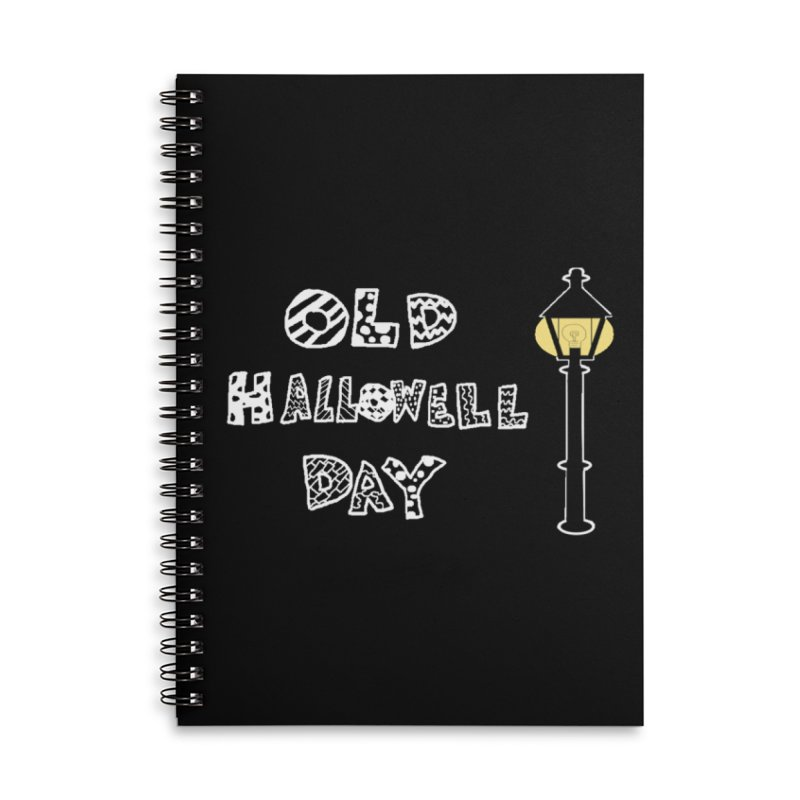 Old Hallowell Day Accessories Lined Spiral Notebook by Sam Shain's Artist Shop
