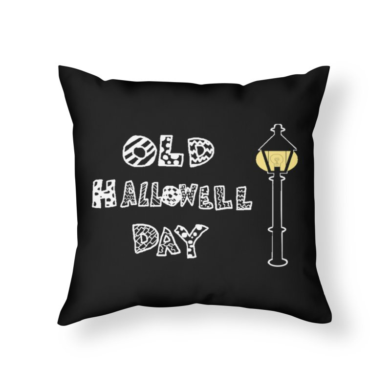 Old Hallowell Day Home Throw Pillow by Sam Shain's Artist Shop