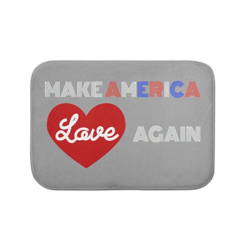 Make America Love Again Home Bath Mat by Sam Shain's Artist Shop