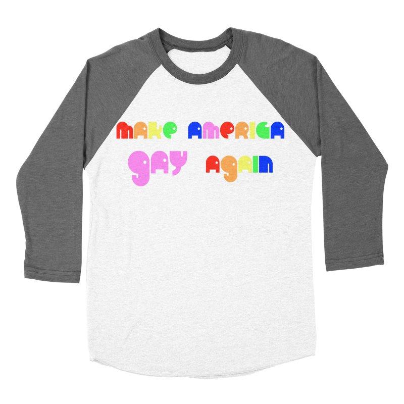 Make America Gay Again Men's Baseball Triblend Longsleeve T-Shirt by Sam Shain's Artist Shop