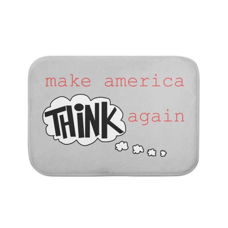 Make America Think Again Home Bath Mat by Sam Shain's Artist Shop