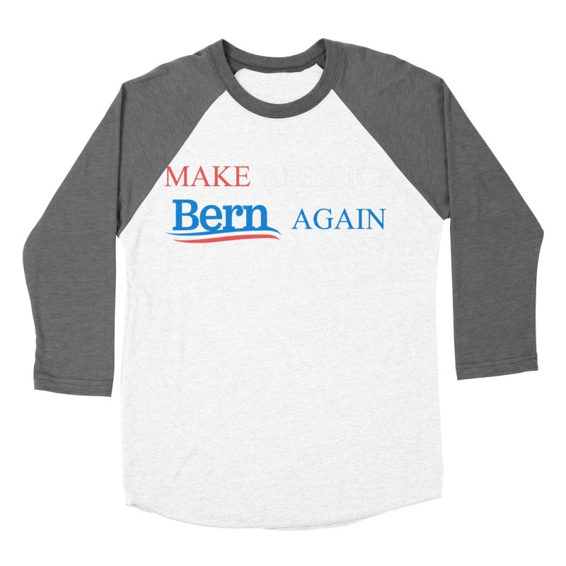 Make America Bern Again Men's Baseball Triblend Longsleeve T-Shirt by Sam Shain's Artist Shop