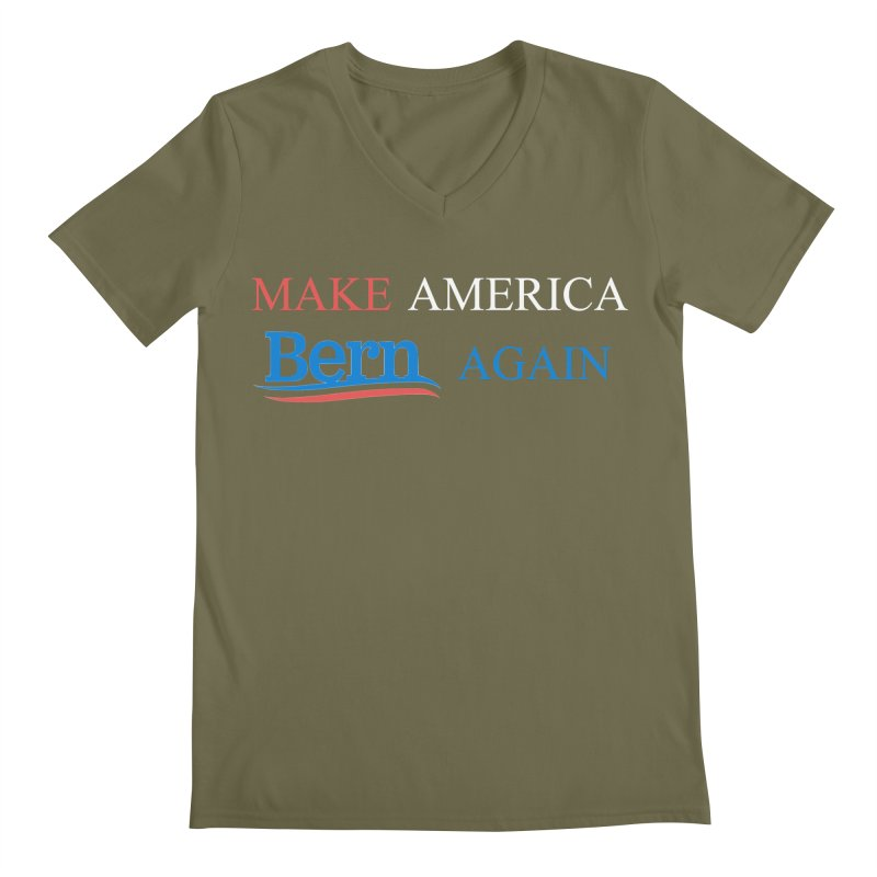 Make America Bern Again Men's Regular V-Neck by Sam Shain's Artist Shop