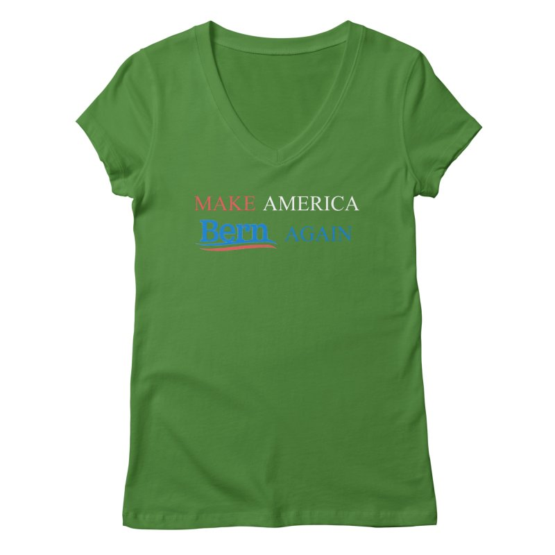 Make America Bern Again Women's Regular V-Neck by Sam Shain's Artist Shop