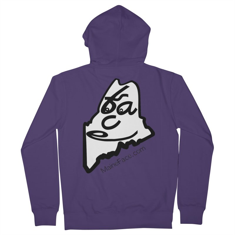 MaineFace.Com Women's French Terry Zip-Up Hoody by Sam Shain's Artist Shop