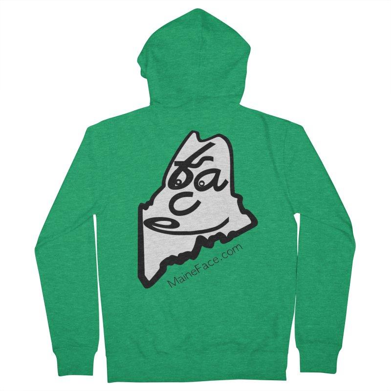 MaineFace.Com Men's Zip-Up Hoody by Sam Shain's Artist Shop
