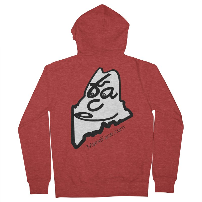MaineFace.Com Men's French Terry Zip-Up Hoody by Sam Shain's Artist Shop