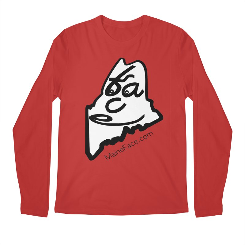 MaineFace.Com Men's Regular Longsleeve T-Shirt by Sam Shain's Artist Shop