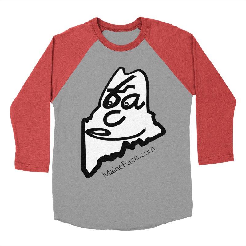 MaineFace.Com Men's Baseball Triblend Longsleeve T-Shirt by Sam Shain's Artist Shop