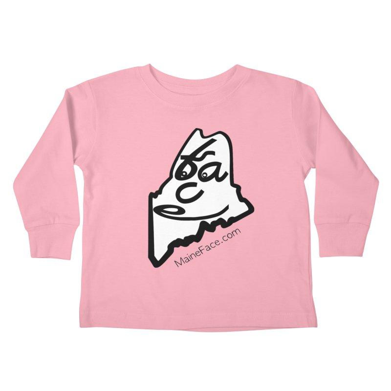 MaineFace.Com Kids Toddler Longsleeve T-Shirt by Sam Shain's Artist Shop